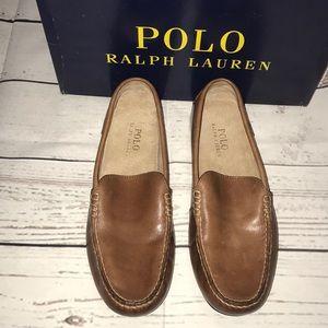 NEW👨🏻Men's Polo Ralph Lauren Woodley Loafers Tan